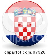Royalty Free RF Clipart Illustration Of A Shiny 3d Croatia Sphere by elaineitalia
