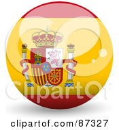 Royalty Free RF Clipart Illustration Of A Shiny 3d Spain Sphere by elaineitalia