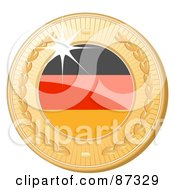 Royalty Free RF Clipart Illustration Of A 3d Golden Shiny Germany Medal by elaineitalia