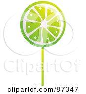 Royalty Free RF Clipart Illustration Of A Lime Sucker by elaineitalia
