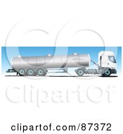Royalty Free RF Clipart Illustration Of An Oil Big Rig Truck