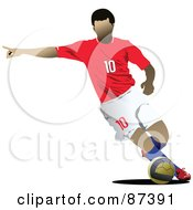 Soccer Player In Action Version 8 by leonid