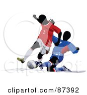 Soccer Opponents During A Game Version 2 by leonid