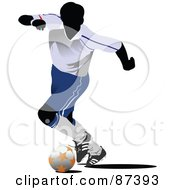 Soccer Player In Action Version 7 by leonid