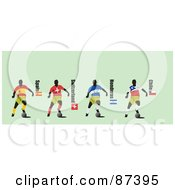 Digital Collage Of Soccer Players From Spain Switzerland Honduras And Chile by leonid