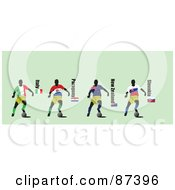 Digital Collage Of Soccer Players From Italy Paraguay New Zealand And Slovakia by leonid