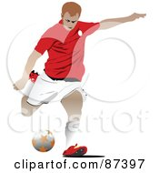 Soccer Player In Action Version 1 by leonid