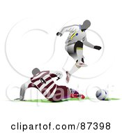 Soccer Opponents During A Game Version 3 by leonid