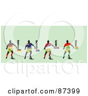 Digital Collage Of Soccer Players From Germany Australia Serbia And Ghana by leonid