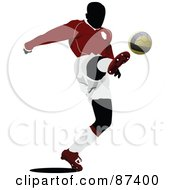 Soccer Player In Action Version 6 by leonid