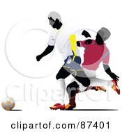 Soccer Opponents During A Game Version 4 by leonid