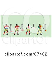 Digital Collage Of Soccer Players From Netherlands Denmark Japan And Cameroon by leonid