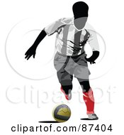 Soccer Player In Action Version 5 by leonid