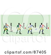 Digital Collage Of Soccer Players From South Africa Mexico Uruguay And France by leonid