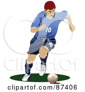 Soccer Player In Action Version 10 by leonid