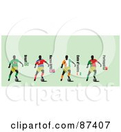 Digital Collage Of Soccer Players From Brazil Korea Dpr Ivory Coast And Portugal by leonid