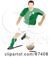 Soccer Player In Action Version 2 by leonid