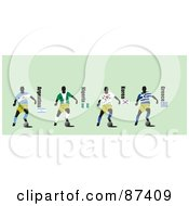 Digital Collage Of Soccer Players From Argentina Nigeria Korea And Greece by leonid