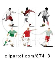 Digital Collage Of Six Soccer Scenes by leonid