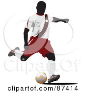 Soccer Player In Action Version 4 by leonid
