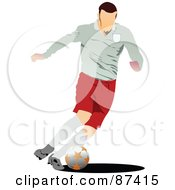 Soccer Player In Action Version 3 by leonid