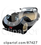 Royalty Free RF Clipart Illustration Of A Brown Vintage Car by leonid