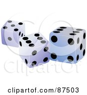 Royalty Free RF Clipart Illustration Of A Group Of Three Standard Casino Dice by leonid