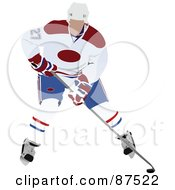 Royalty Free RF Clipart Illustration Of A Professional Hockey Player Bending Over by leonid