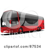 Royalty Free RF Clipart Illustration Of A Modern Red London City Bus by leonid