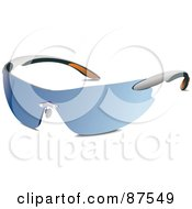 Royalty Free RF Clipart Illustration Of A Pair Of Blue Tinted Sunglasses