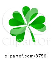Royalty Free RF Clipart Illustration Of A 3d Four Leaf Green Shamrock Clover by oboy
