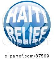 Shiny Blue Haiti Relief Website Button