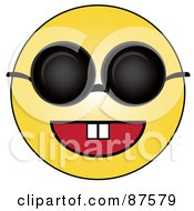 Happy Yellow Emoticon Face Wearing Shades