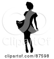 Royalty Free RF Clipart Illustration Of A Black French Maid Silhouette