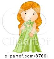 Astrological Cute Virgo Girl Holding A Stem