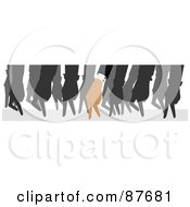 Group Of Walking Hands