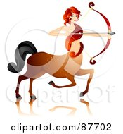 Royalty Free RF Clipart Illustration Of A Beautiful Horoscope Sagittarius Centaur Woman Archer by BNP Design Studio