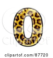 Royalty Free RF Clipart Illustration Of A Panther Symbol Number 0