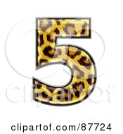 Royalty Free RF Clipart Illustration Of A Panther Symbol Number 5