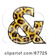 Royalty Free RF Clipart Illustration Of A Panther Symbol Ampersand by chrisroll