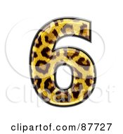 Royalty Free RF Clipart Illustration Of A Panther Symbol Number 6
