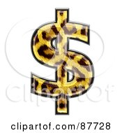 Royalty Free RF Clipart Illustration Of A Panther Symbol Dollar by chrisroll