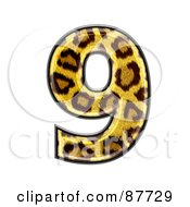 Royalty Free RF Clipart Illustration Of A Panther Symbol Number 9
