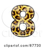 Royalty Free RF Clipart Illustration Of A Panther Symbol Number 8