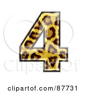 Royalty Free RF Clipart Illustration Of A Panther Symbol Number 4