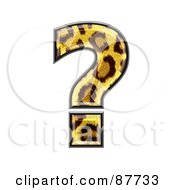 Royalty Free RF Clipart Illustration Of A Panther Symbol Question Mark