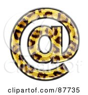 Royalty Free RF Clipart Illustration Of A Panther Symbol Arobase At Symbol by chrisroll