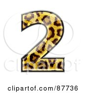Royalty Free RF Clipart Illustration Of A Panther Symbol Number 2