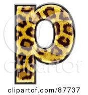 Royalty Free RF Clipart Illustration Of A Panther Symbol Lowercase Letter P