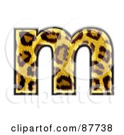 Royalty Free RF Clipart Illustration Of A Panther Symbol Lowercase Letter M